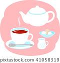 커피 차 세트 41058319