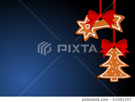 christmas simple background with gingerbread 41062207