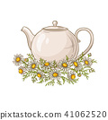 chamomile tea illustration 41062520