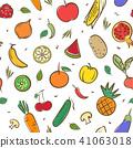 fruits, vegetable, vector 41063018