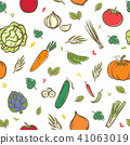 Mix vegetables seamless pattern background 41063019