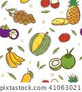 fruits, vector, tropical 41063021