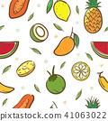 fruits, vector, tropical 41063022