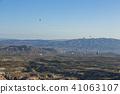 从土耳其卡帕多细亚Uchisar堡垒的早晨风景 41063107