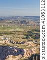 从土耳其卡帕多细亚Uchisar堡垒的早晨风景 41063112
