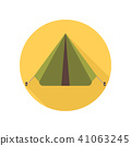 tent, icon, camping 41063245
