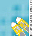 Pair of shoes on color background in Pop Art Style Vector Illustration 41063334