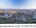 从土耳其卡帕多细亚Uchisar堡垒的早晨风景 41063414
