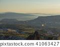 從土耳其卡帕多細亞Uchisar堡壘的早晨風景 41063427