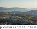 从土耳其卡帕多细亚Uchisar堡垒的早晨风景 41063436