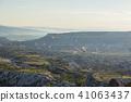 从土耳其卡帕多细亚Uchisar堡垒的早晨风景 41063437