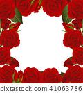 Red Rose Flower Frame Border 41063786