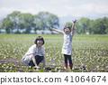 밭일을하는 가족 41064674