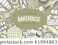 bread, bakery, vector 41064863