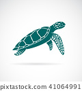 Vector of sea turtle isolated on white background. 41064991