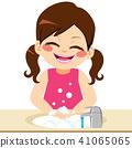 Girl Washing Hands 41065065
