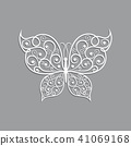 Beautiful paper butterfly with swirl pattern. 41069168