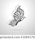 Beautiful butterfly with swirl pattern. 41069178