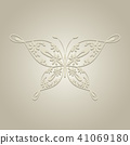 Paper butterfly on beige background. 41069180