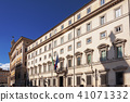 Facade of the Chigi Palace in Rome 41071332
