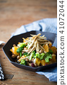 日本式沙拉用桔子和植物名 41072044