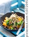 日本式沙拉用桔子和植物名 41072045