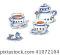 파란 컵과 차 41072104