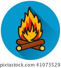 icon, bonfire, vector 41073529