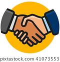 handshake icon on white background 41073553