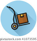 icon, hand, trolley 41073595