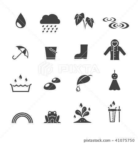 rainy season icon 41075750