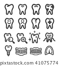 tooth icon 41075774