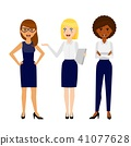 Set of three different smiling business woman 41077628
