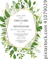 Wedding Invitation, floral save the date card 41079029
