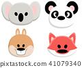 Animal faces set 41079340