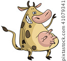 cartoon cow 41079341
