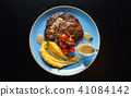 steak with puree 41084142