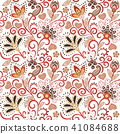 Hand drawn flower seamless pattern. Colorful seamless pattern with pargeting grunge whimsical 41084688