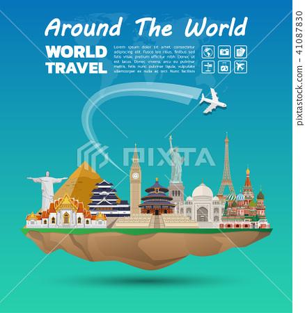 World famous Landmark paper art. Global Travel. 41087830