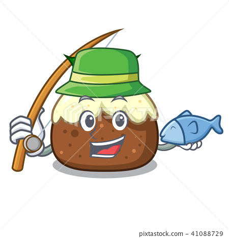 Fishing fruit cake character cartoon 41088729