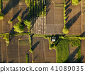 aerial view agriculture field summer day 41089035