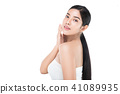 Portrait Skin care woman enjoy and happy 41089935
