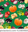 Seamless pattern with vegetables. 41089968