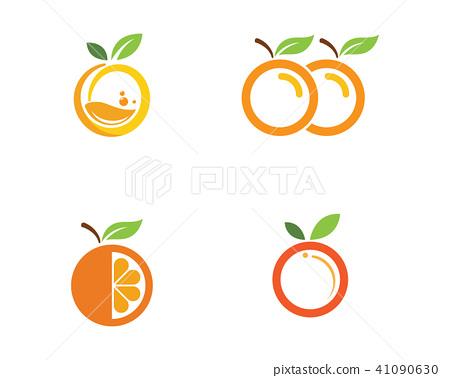 Orange logo design Vector icon 41090630