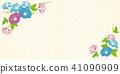 Morning glory background illustration 41090909