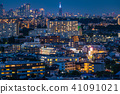 """""""โตเกียว"""" Shinjuku sub-central city และคืนมุมมองของพื้นที่อยู่อาศัย 41091021"""
