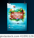summer, party, flyer 41091126