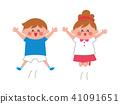 孩子們的女孩跳 41091651