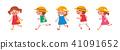 孩子們快樂地跑 41091652