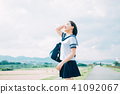 High school student of uniform 41092067